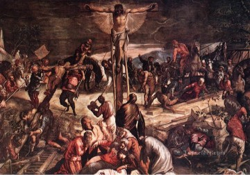 Crucifixion detail1 Italian Tintoretto religious Christian Oil Paintings